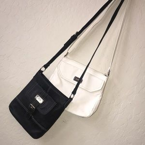 Nine West | 2 Cross Body Purses Black and White